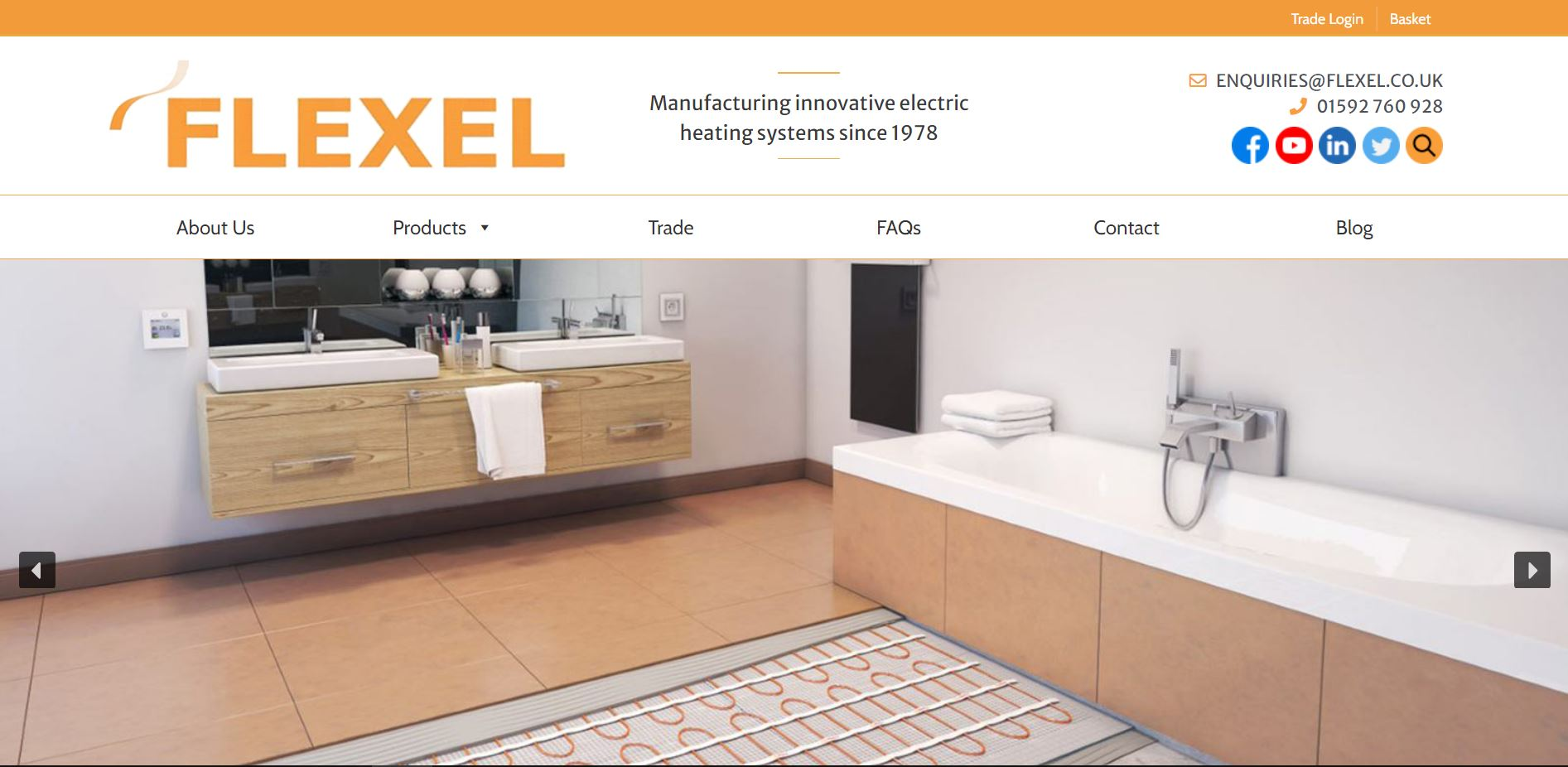 Flexel International Website Launch